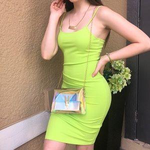 Dresses & Skirts - Neon green Bodycon dress